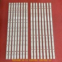 16pcs LED תאורה אחורית רצועת עבור Panasonic TX 55AX630B TX 55AX630E TX 55DX600B TX 55DX600E TX 55DX650B TX 55DS500B TX 55DS500E TB5509M 550TV01 550TV02 V4