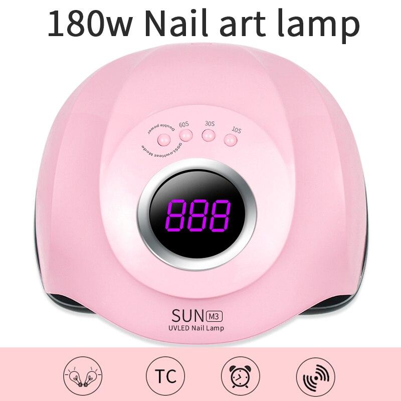 1 Pcs 180W Four-speed Intelligent Induction Phototherapy Lamp Nail Dryers Nail Polish Baking Light Therapy Nail Lamp Nail Art 2
