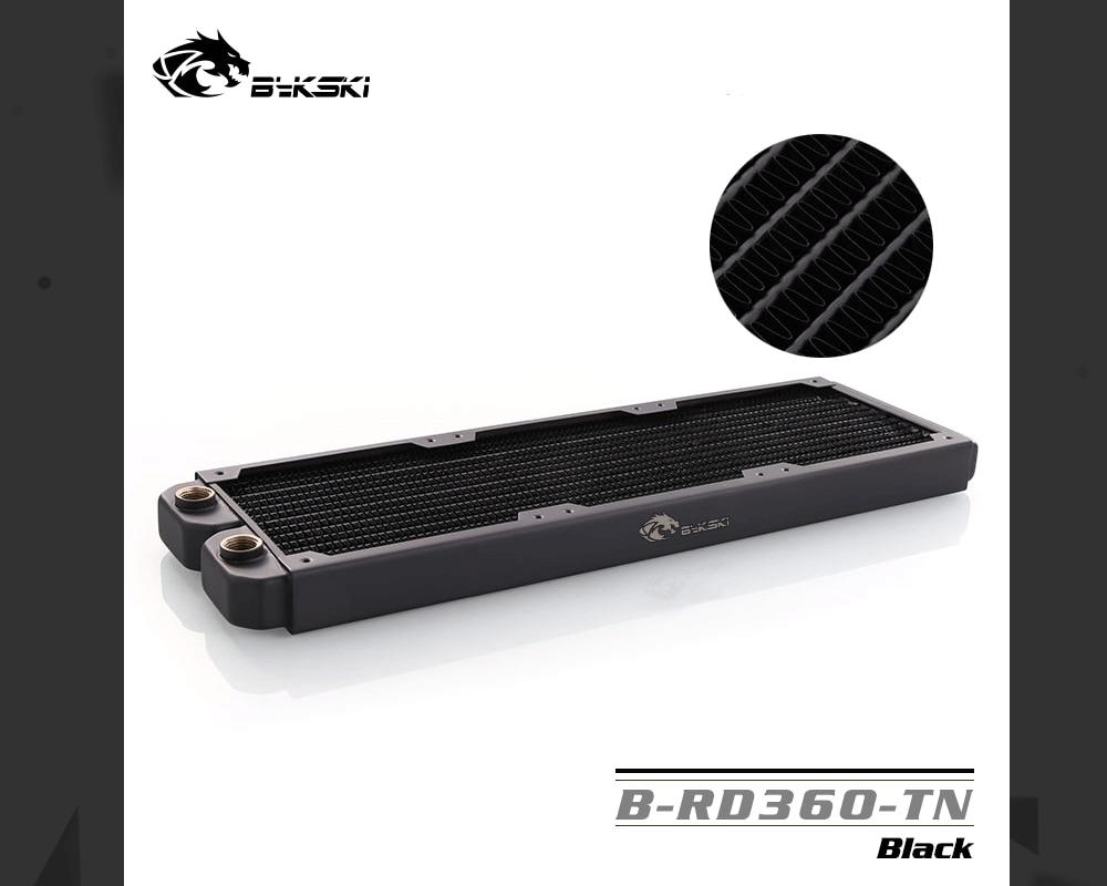 Bykski B-RD360-TN, 360mm Single Row Radiators, 29mm Thickness, Standard Water Cooling Radiators , Suitable For 120*120mm Fans
