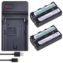 Tectra 2pc NP-F570 NP-F550 NP F550 NP F330 F570 Battery+USB Charger for sony NP-F330 NP-F530 NP-F570 NP-F730 NP-F750 CCD-RV100(China)