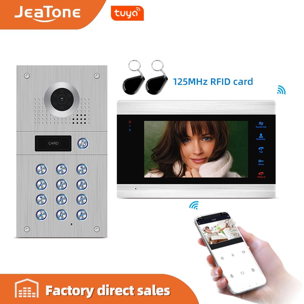 Jeatone 7'' HD WIFI Smart IP Indoor Monitor Video Door Phone Intercom System Video Recording , Support IOS/Android Remote Unlock
