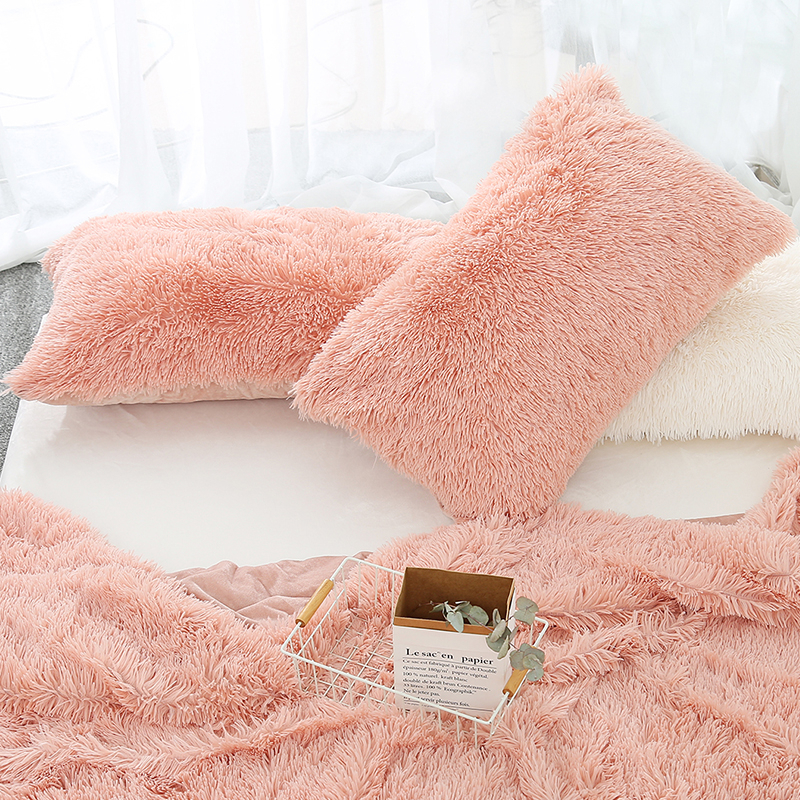 50x70cm Plush Pillow Case Winter Warm Long Fluffy Sleeping Pillowcase Home Bed Cushion Pillow Cover