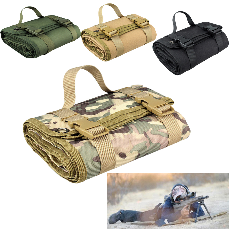 Outdoor Gathering Mat Shooting Pad Nonslip Roll Up Portable Shooting Mat for Outdoor Training Camping Airsoft Folding Mat GearHunting Gun Accessories   -