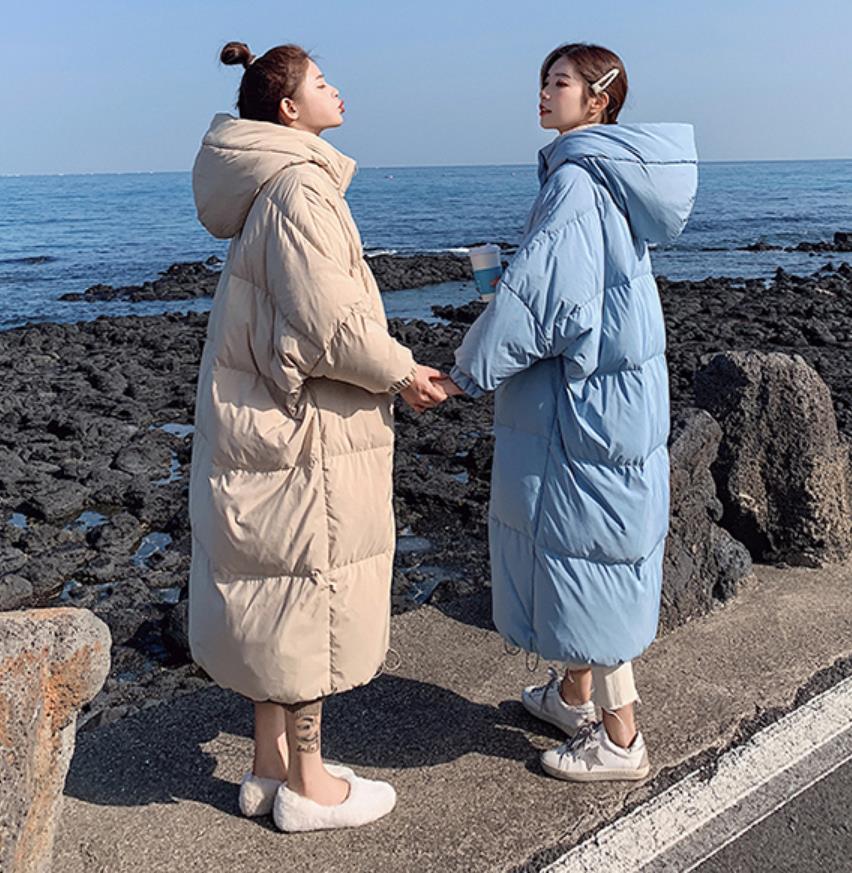 Invierno sobre la rodilla X long bat manga de algodón abrigo femenino suelto de gran tamaño chaqueta gruesa Chaqueta de algodón mullido f272 - 3