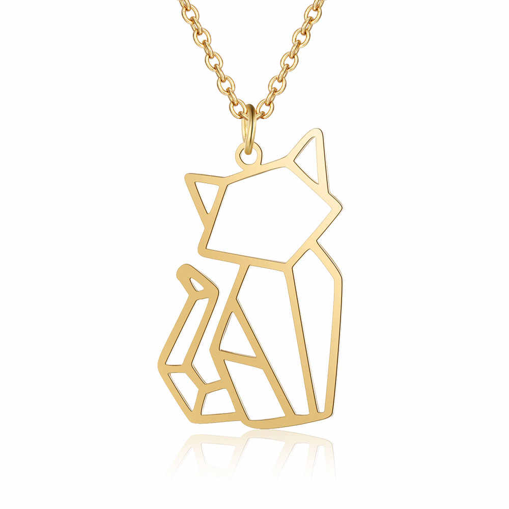 Unique Animal Jewelry Necklaces for Women 100% Stainless Steel Super Fashion Cat Dog Panda Monkey Pendant Necklace Special Gift