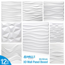 12pcs/lot 50x50cm 3D Wall Panel 3D wall stickers Relief Wall Panel Stickers Living Room Kitchen Bedroom Home Decor Party back