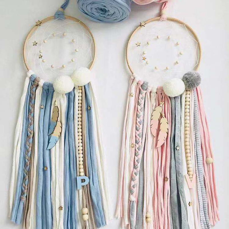 Baby Crib Mobile Baby Rattles Wool Balls Dreamcatcher Room Bed Hanging Decoration Nursing Children Products Photography Props
