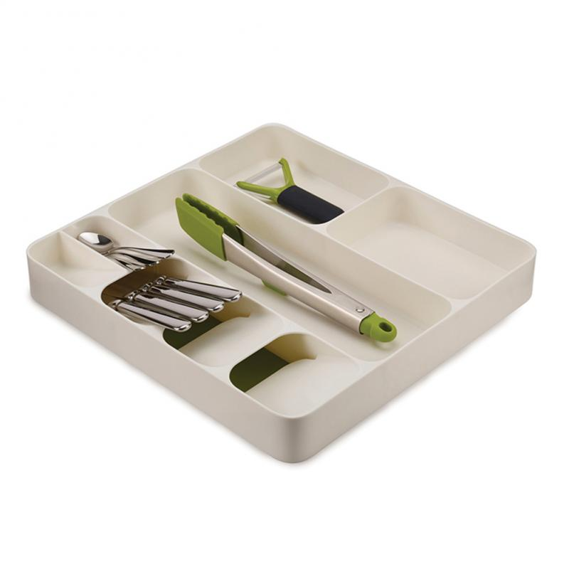 Kitchen Organizer and Cutlery Tray with Separation for Storage of Spoon Folks and Knives