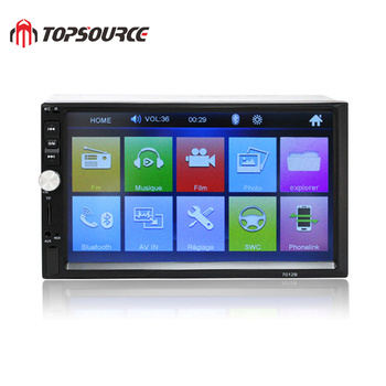 TOPSOURCE Car Radio 7010B 7 HD Touch Screen Car DVD Player 2 Din Audio Stereo Bluetooth Video MP5 Multimedia Player FM TF USB 7 hd touch screen 12v car stereo player 7010b car radio autoradio mp5 fm bluetooth mirror link 2 din car radio stereo receiver