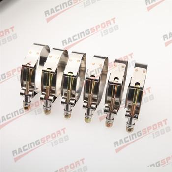 6 sztuk 2 #8222 cal Turbo łącznik węża klamra zaciskowa ze stali nierdzewnej 54-62mm tanie i dobre opinie ACRAP 6XTCL-2 0 Stainless Steel Zinc coated Carbon Steel Self-lock 19mm 2 (54mm to 62mm) 6pcs 2 T bolt clamp
