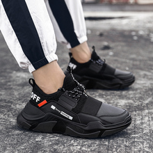 Big Size Chunky Sneakers Men Running Shoes Man Sport Trainers Male Sports Thick Soles Black Footwear Gym  A229