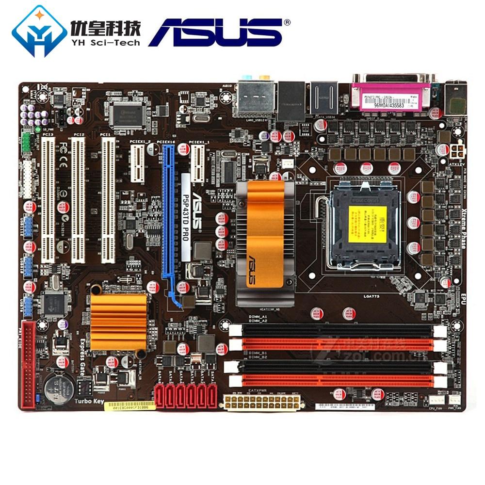 Original Used Desktop Motherboard Intel P43 Asus P5P43TD PRO Socket LGA 775 Core 2 Extreme/Core 2 Quad DDR3 16G ATX