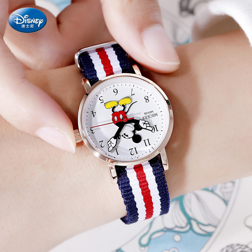 Disney Children Watch Mickey Mouse Lovely Quartz Watch Primary And Secondary School Students Watch Kids Watch  3Bar