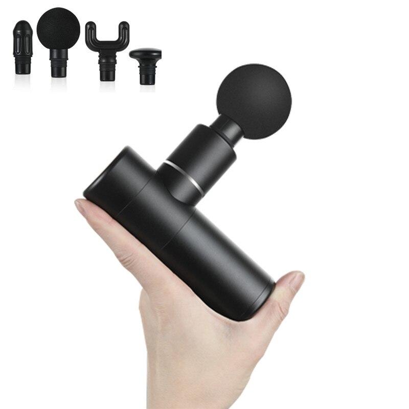 Mini Elektrische Massage Gun Tiefe Muscle Fascial Körper Massager Gun Tissue Percussion Kleine Fitness Ausrüstung Säure Relief Schmerzen Entspannen