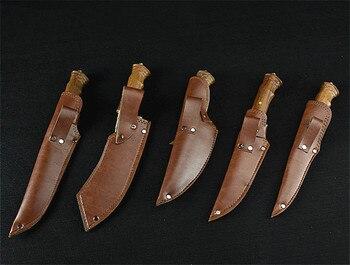 Longquan handmade beat sharp kitchen knife household kitchen set of 6 knives boning slicer butcher knife meat stand knife 6