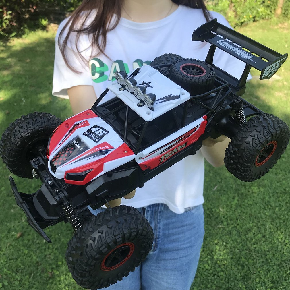 2.4GHz 1:16 RC Truck 4WD Brushed Off-road Drive Monster Car RTR Big Foot Remote Control Cars Vehicle Toys For Children