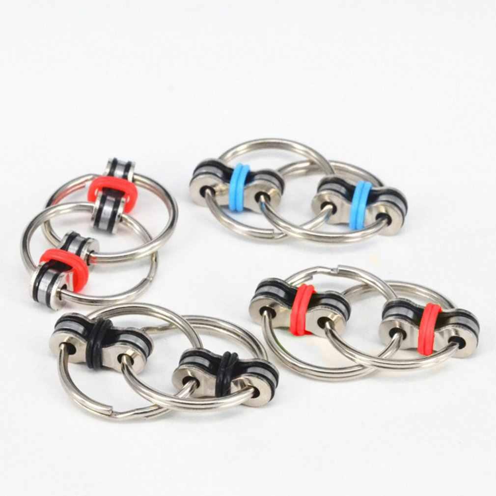 1 pçs mini girador de mão rotação de alta velocidade cube fidget anel chave resistente brinquedos fidget metal spinner anti estresse brinquedos presente mágico