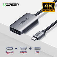 Ugreen USB C HDMI Cable Type C to HDMI Thunderbolt 3 Adapter for MacBook Samsung Galaxy S10/S9 Huawei Mate 20 P20 Pro USB-C HDMI