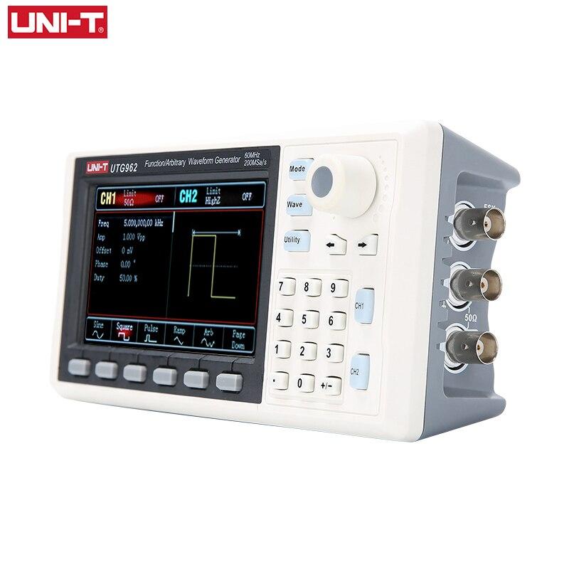 UNI-T UTG932 UTG962 функциональный однофазный генератор 30 МГц 60 МГц двухканальный генератор частоты синусоидальной волны произвольный генератор с...