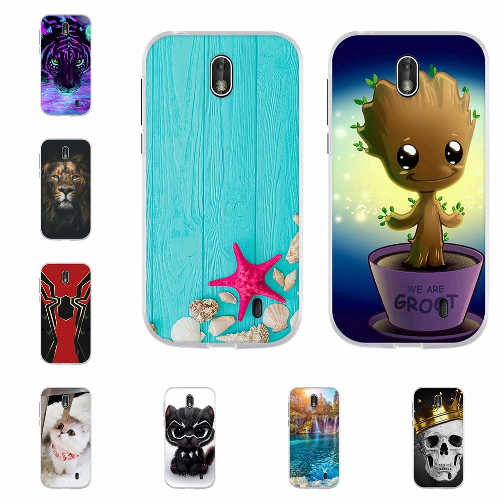 For Nokia 1 Protective Case Ultra Slim Soft TPU Silicone Phone Cover Cute Animal Patterned Coque Bumper