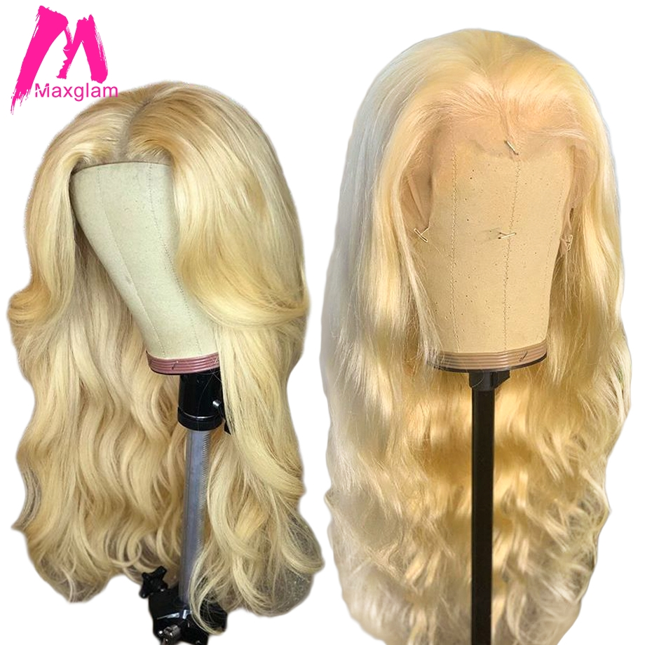 Blonde 613 Full Lace Human Hair Wigs Glueless Pre Plucked With Baby Hair Body Wave Wig Short Long Remy Hair For Black Women 130%