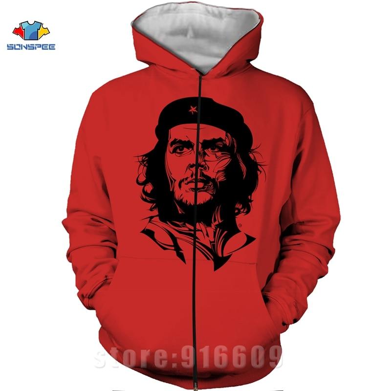 Winter Coat 3D Print Che Guevara Jacket Men Sweatshirts Women Fashion Hoodies Mens Pocket Sweatshirt Harajuku Hoodie Pullovers (3)