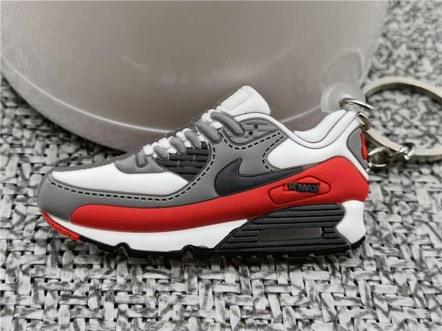 Mini Silicone 90 Dễ Thương Giày Móc Khóa Người Phụ Nữ Túi Phụ Kiện Charm Không Giày Móc Khóa Dành Cho Nam Trẻ Em Móc Khóa Quà Tặng giày Sneaker