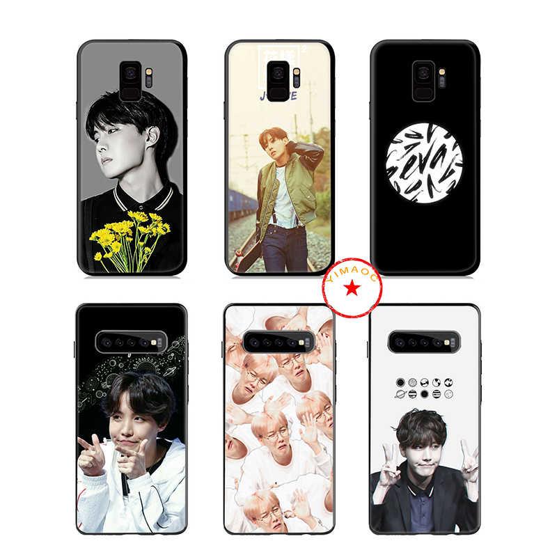 J esperança Jung Ho Seok K Pop Soft Case de Silicone para Samsung Galaxy S10 S10e S9 S8 Plus S7 Borda para Samsung Nota 10 9 8 Plus