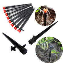 100PCS 8 Holes Adjustable Dripper On Stake Drip Irrigation Fittings Garden Potted Plant Watering Tools Drip Fittings
