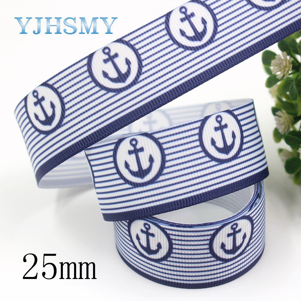 YJHSMY I 19826 1999 25 мм 10 ярдов геометрические ленты термопечать grosgrain бант колпачок DIY