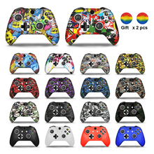 For Xbox One X/Slim Controller Gamepad Camo Silicone Cover Rubber Skin Grip Case Protective For Xbox One Slim Joystick