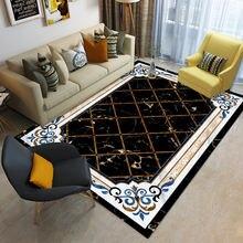 Роскошный ковер для гостиной большой напольный коврик в клетку
