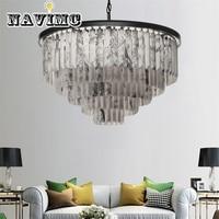 Modern Chandelier para Hotel De Luxo Em Mármore Engenharia Villa Iluminação|Luzes de pendentes| |  -