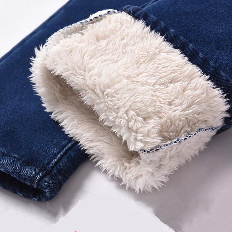 High Waist Lamb Cashmere Plus Velvet Winter Jeans Women Denim Pencil Pants Warm Thicken Stretch Boyfriend Jeans For Women Q1867