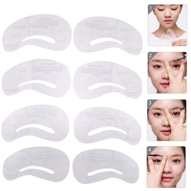 Women Female Makeup Eyebrow Stencil Pen Shaping Eyebrow Trimmer Hair Removal Epilator Grooming Eye Brow Scissors Shaver Knife 1