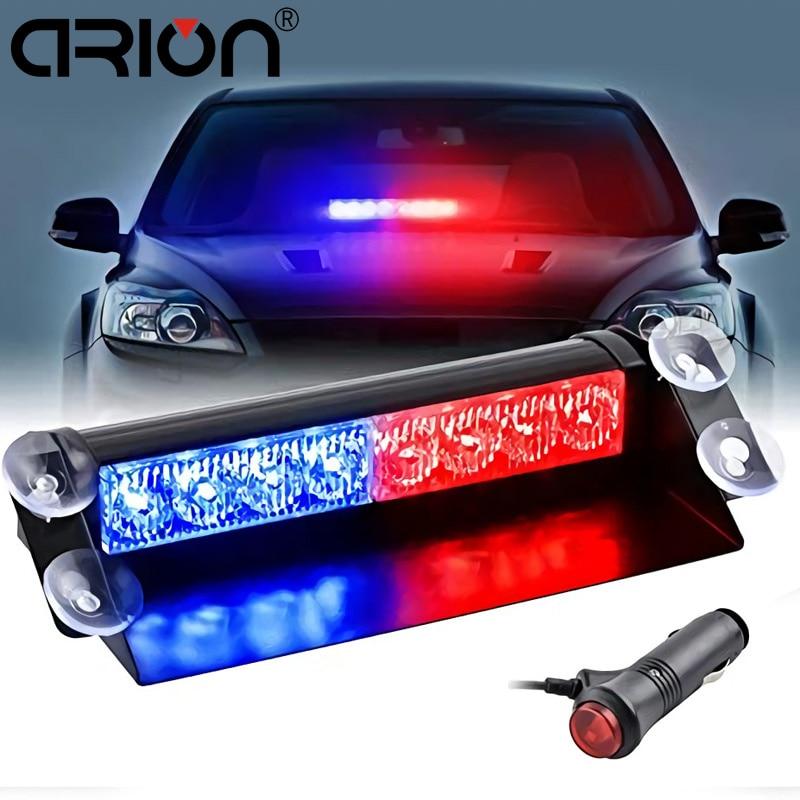 Car Truck Emergency Flasher Dash Strobe Warning Light Day Running Flash Led Police Lights 8 LEDs 3 Flashing Modes 12V