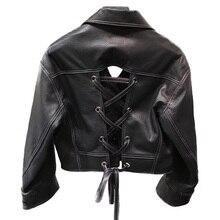 Frauen Damen Echte Schafe Leder Jacke Weibliche Echte Schaffell Leder Mantel Outwear Kurze Sexy Coole Leder Bekleidung