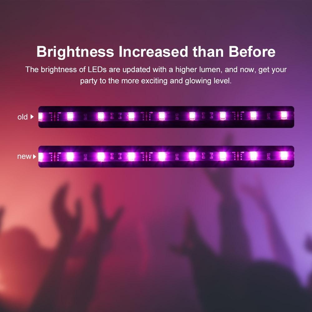 Sonoff L1 Smart Led Light Strip Dimbare Waterdichte Wifi Flexibele Rgb Strip Verlichting Werk Met Alexa Google Thuis, dance Met Muziek 3