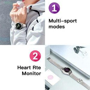 Image 4 - IP68 Orologio Intelligente Impermeabile Donne Monitoraggio del Sonno Monitor di Frequenza Cardiaca di Modo Lonvely Braccialetto KW10 Smartwatch Per Android IOS