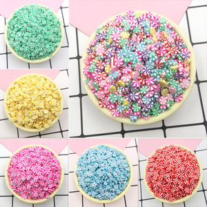 50g/lot Polymer Hot Clay Sprinkles for Slime Round Candy Fake Cake Decoration DIY Crafts Making Nail Arts Accessories 5mm