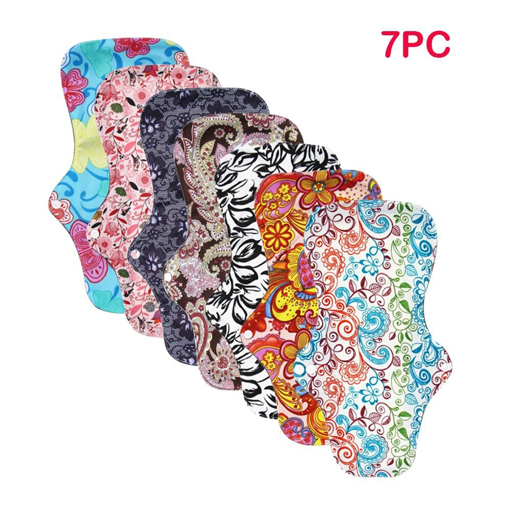 Cloth Menstrual Pad Mama Cloth Sanitary Bamboo Charcoal Bag Reusable Print Women Menstrual Pads Drop Ship