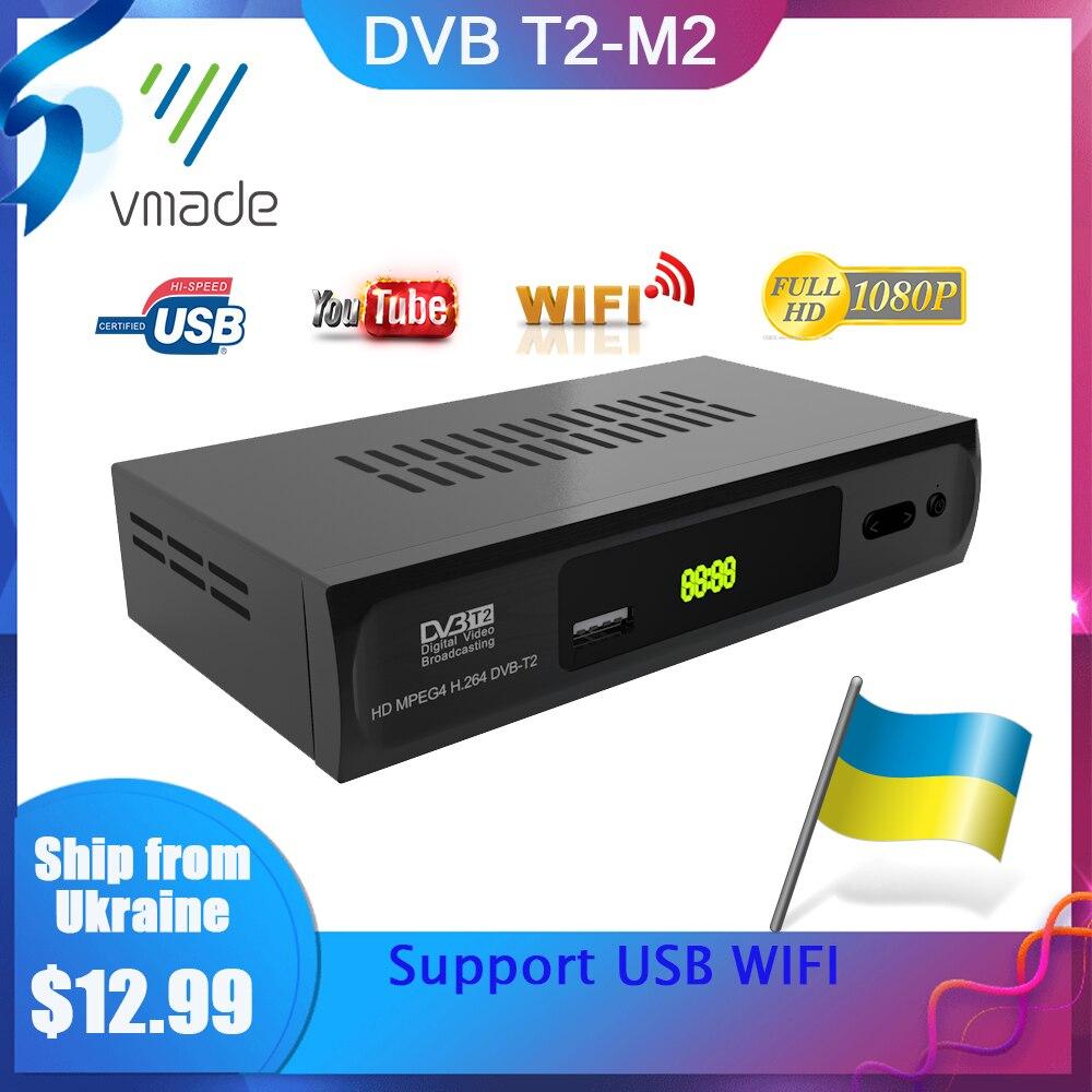 Vmade HD 1080P DVB T2 Terrestrial Receiver TV Box Dvb-t2 Tuner Receiver DVB T2 Decoder H.264 Support Youtube USB WIFI TV BOX