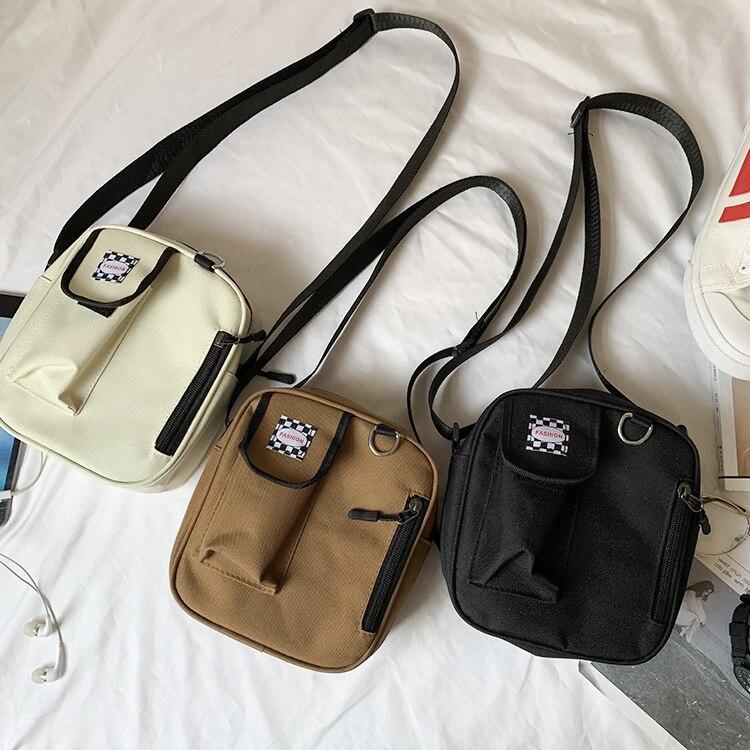 2019 Crossbody Bags For Women Korea Style Canvas Shoulder Bag Japan Harajuku Girl Cute Student Small Purse Phone Bag Beach