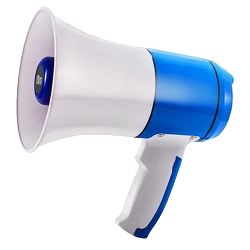 Megaphone High-Power Handheld Megaphone with Music Alarm Function, High-Definition Recording, Long Standby