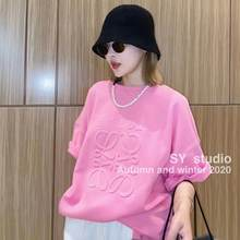 Shirt cuff cut thick cor candy carving 3D, 2021 Oversized t-shirt t-shirts with short sleeve
