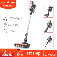 Womow W20 Cordless Vacuum Cleaner 25Kpa Powerful Suction Portable 2 In1 Stick Wireless Vacuum Cleaner Vertical Floor Brush Vs 1c