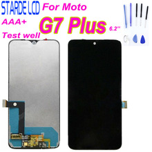 цена на For Motorola G7 Plus LCD Display Touch Screen Digitizer Assembly Replacement Parts 6.2