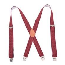 Adjustable Suspenders Trousers Men Classic Pants Strap X Back Casual Retro Trouser Braces 4 Clips Elastic Belt Clothing Supply