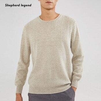 PAMIR 100% cachemir Merino superfino mantener caliente lana cuello redondo blanco negro color bajo de punto hombres ropa Top chaleco suéter
