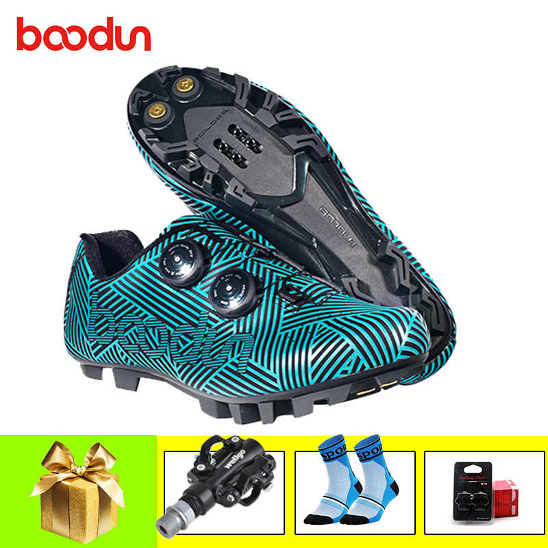 BOODUN mountain bike shoes men sapatilha ciclismo mtb sneakers self-locking breathable superstar bicycle riding mtb bike shoes
